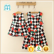2016 New Design Floral Fashion Casual Summer Woman Dress Baby Casual Holiday Fashion Beach Clothes Dress