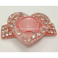 Heart-Shaped Acrylic Rhinestone Buckle