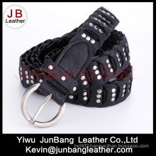 Fashion Ladie′s PU Braid Belt with Rivet