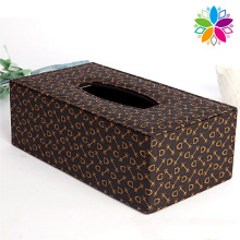 Printing Rectangle Leather Tissue Box (ZJH064)