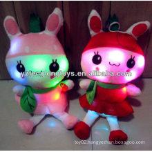 China factory LED toy plush rabbit toys stuffed LED light toy