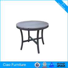 Wooden furniture outdoor aluminum table plastic tabletop