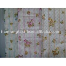 Baumwolle Plain Druckstoff Double-Layer Shirt Kleid Kleid