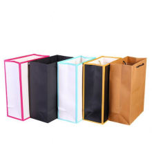 High Quality Luxury Gold Paper Material Custom Company Logo Shopping Gift Packaging Paper Bag