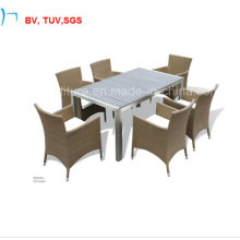 Patio Rattan Dining Table and Chair for Outdoor (CF1034T+8004AC)