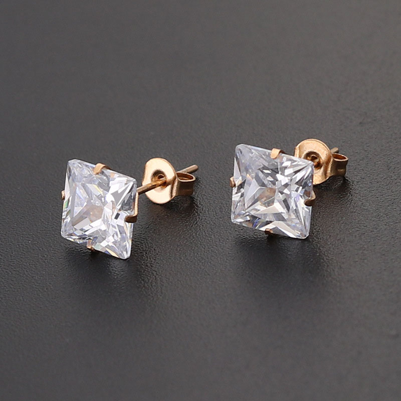 Zirconia Stud Earrings