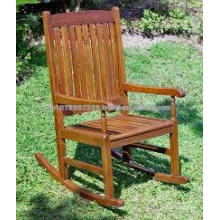 Juego de muebles de jardín / al aire libre de madera maciza - Rocking Chair