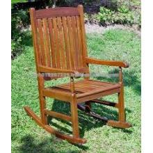 Твердой древесины на открытом воздухе / сад комплект мебели - кресло-качалка