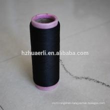 40 150 black spandex covered polyester yarn
