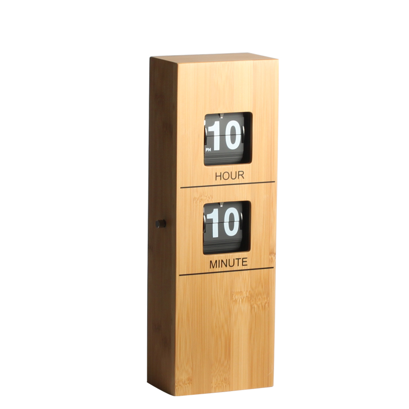 Rectangle Bamboo Wall Clock