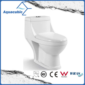 Bathroom Washdown One-Piece Closet Ceramic Toilet (AT7299)