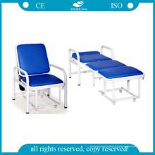 AG-AC006 avec des chaises pliantes luxueuses d'hôpital de matelas mou de PVC