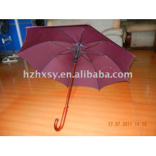 wood handle straight umbrella
