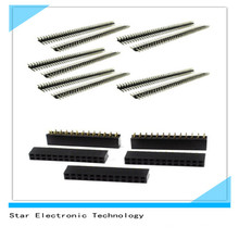 Double Row 2.54mm Pitch Straight Female Male Pin Header Socket