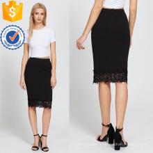 Taille élastique jupe crayon ourlet fabrication en gros de mode femmes vêtements (TA3078S)
