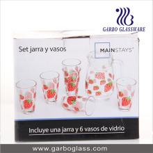 7PCS Printing Water Glass Set (GB12017-3-YH1)
