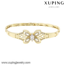 74584 Fashion Elegant Butterfly Cubic Zirconia Jewelry Bracelet in 14k Gold Color