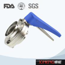 Vanne papillon soudée sanitaire haute précision en acier inoxydable haute précision (Jn-BV10010