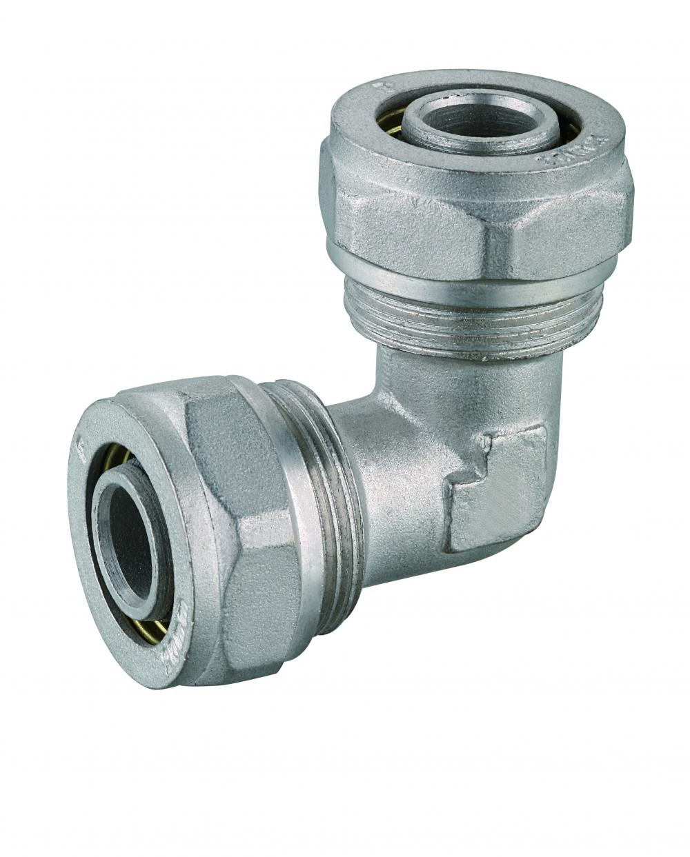 PEX brass elbow compression fitting