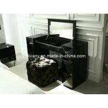Style européen divany commode bois noir miroir habilleuse (LS-203)