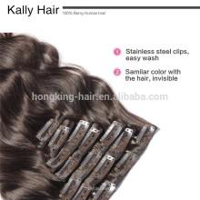 Virgin Indische Remy Haarverlängerungen Clip im indischen Haar Großhandel
