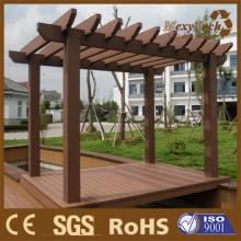 Foshan jardim composto Pergola madeira, sala de estar ao ar livre.