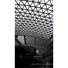 Gebäude vorgefertigte Stahl Glas Dach für Einkaufszentrum
