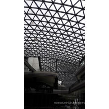 Building Prefabricated Steel Glass Roof for Shopping Mall