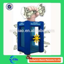 Máquina vendedora de dinheiro inflável de venda superior para comercial interativo para venda