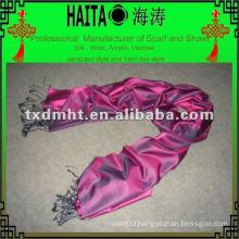Rose red silk scarf HTC168-15