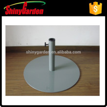 Sombrilla parasol redonda de acero, base de acero, base de hierro