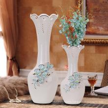 Handmade european style chinese glaze blue and white porcelain vase