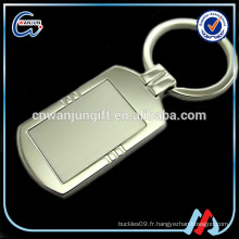 Sublimation Metal personnalisé votre propre logo Keychain