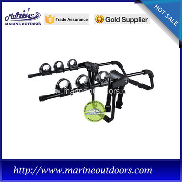 foldable 3-bike black deluxe bicycle rack