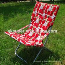 Todos os tipos de cadeira de sol colorida com tampa de algodão