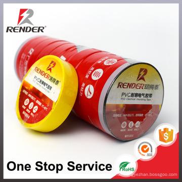Guangzhou Elektronische Flammschutzmittel Vinyl PVC Pipe Tape Schwarz Weiß Rot Gelb Blau Grün Industrial Adhesive Tape