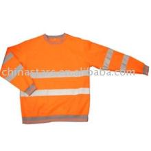 Alta visibilidade reflexiva camisa de manga longa de segurança