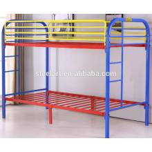 crianças mobiliário design metal double decker cama de crianças
