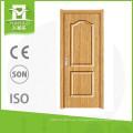 China proveedores pvc sola puerta de madera para casas de decoración