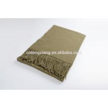 100% Wool Shawl With Fringe