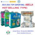 Abella Jumbo Pack Afrika Qualität PE-Rückenfolie Magic Tape Weiche, bequeme Babywindeln
