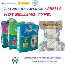 Abella Jumbo Pack Africa Qualité PE Retour Film Magic Tape Soft Comfortable Couches bébé