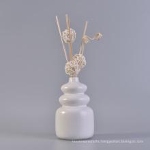 Matte White Glazing Calabash Design Aroma Ceramic Diffuse Bottles