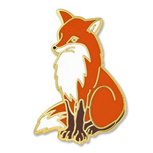 Vixen Arctic Red Fox Binatang Enamel Lapel Pin