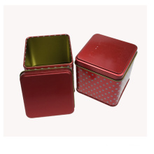 Red Color Metal Wedding Gift for Candy Packaging Box
