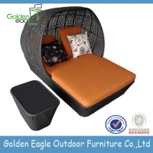 Mobiliário de jardim exterior sofá de vime