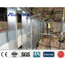 2 meter width Alunewall stainless steel aluminium composite panel/ advanced construction material