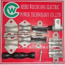 accessoires électriques haute résistance, collier de suspension pour OPGW