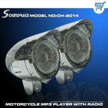 Lecteur mp3 de moto de différentes couleurs avec grand diamant