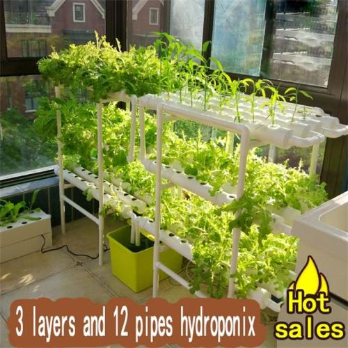 PVC-Rohre Indoor Grow Kit NFT Hydroponisches System
